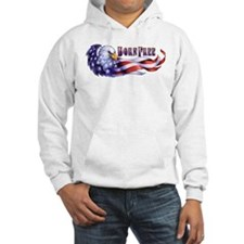 Born Free Bald Eagle And USA Fla Hoodie