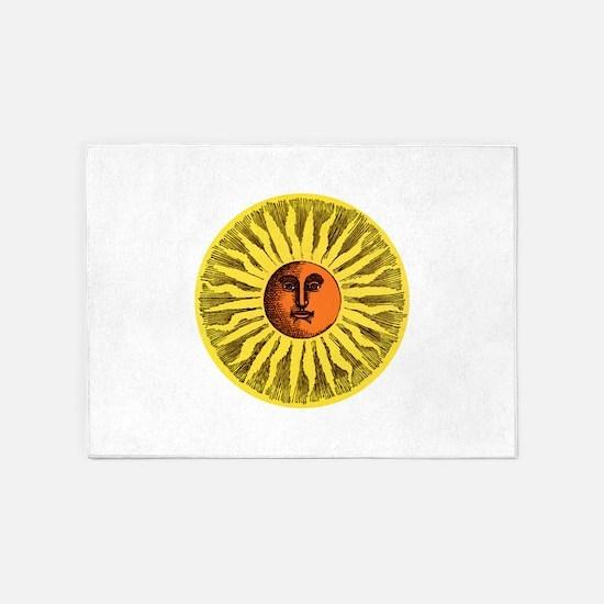 Antique Sun 5'x7'Area Rug