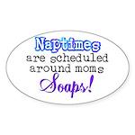 Scheduled Naptimes Oval Sticker