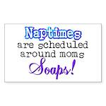 Scheduled Naptimes Rectangle Sticker