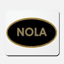 NOLA BLACK AND GOLD Mousepad