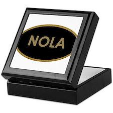 NOLA BLACK AND GOLD Keepsake Box