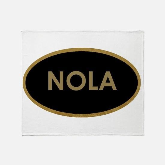 NOLA BLACK AND GOLD Throw Blanket
