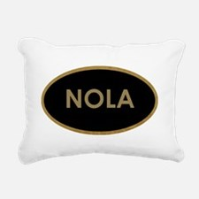 NOLA BLACK AND GOLD Rectangular Canvas Pillow