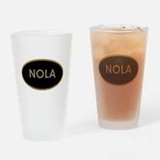 NOLA BLACK AND GOLD Drinking Glass