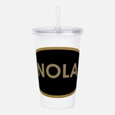NOLA BLACK AND GOLD Acrylic Double-wall Tumbler