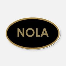 NOLA BLACK AND GOLD Oval Car Magnet