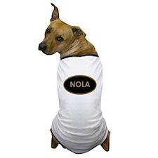 NOLA BLACK AND GOLD Dog T-Shirt