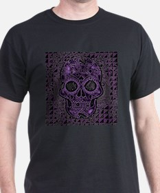 Funny Purple skull T-Shirt