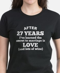 27 Years Of Love And Wine T-Shirt