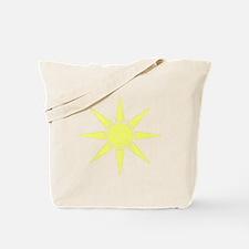 Subtle Yellow Sun Tote Bag