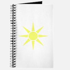 Subtle Yellow Sun Journal
