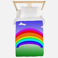 Rainbow and Clouds Twin Duvet
