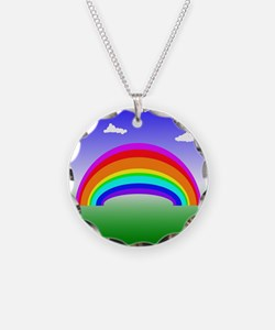 Rainbow and Clouds Necklace