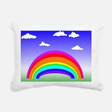 Rainbow and Clouds Rectangular Canvas Pillow