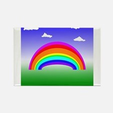 Rainbow and Clouds Magnets