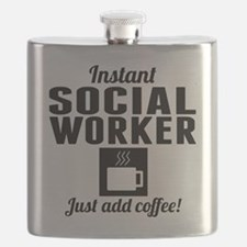 Instant Social Worker Just Add Coffee Flask