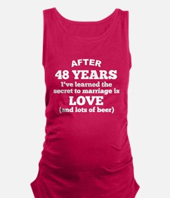 48 Years Of Love And Beer Maternity Tank Top