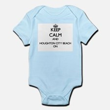 Keep calm and Houghton City Beach Michig Body Suit