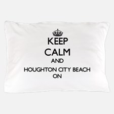 Keep calm and Houghton City Beach Mich Pillow Case