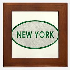 New York Green Stone Framed Tile