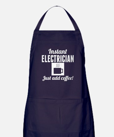 Instant Electrician Just Add Coffee Apron (dark)