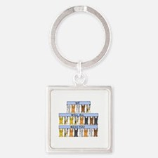 We will all miss you, cartoon cats Square Keychain