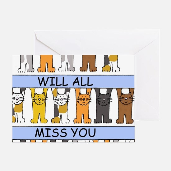 We will all miss you, cartoon cats. Greeting Card