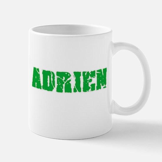 Adrien Name Weathered Green Design Mugs