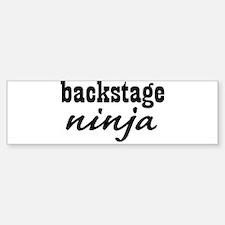 Backstage Ninja Bumper Bumper Bumper Sticker
