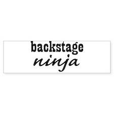 Backstage Ninja Bumper Bumper Sticker
