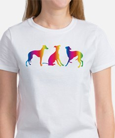 Three little colourful whippets T-Shirt