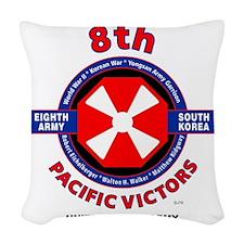 8TH ARMY KOREA Woven Throw Pillow