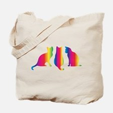 Three little colourful cats Tote Bag