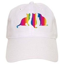 Three little colourful cats Baseball Cap