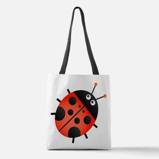 Animated Ladybug Polyester Tote Bag