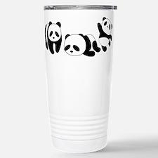 Three little giant pandas Travel Mug