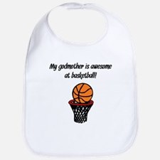 My Godmother Is Awesome At Basketball Bib