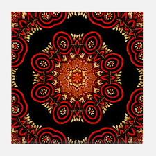 Ornate Middle Eastern Medallion 2 Tile Coaster