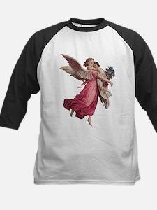 Vintage Christmas, Victorian Angel Baseball Jersey