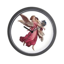 Vintage Christmas, Victorian Angel Wall Clock