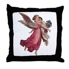 Vintage Christmas, Victorian Angel Throw Pillow