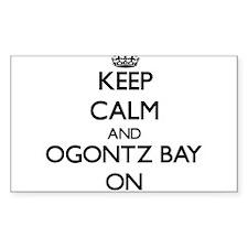 Keep calm and Ogontz Bay Michigan ON Decal