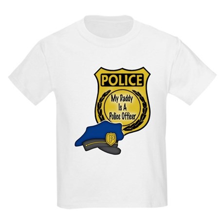 My Daddy Is A Police Officer Kids Light T-Shirt