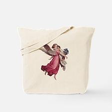 Vintage Christmas, Victorian Angel Tote Bag