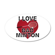 Love Badminton Wall Decal