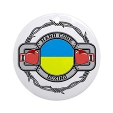 Hard Core Ukraine Boxing Ornament (Round)