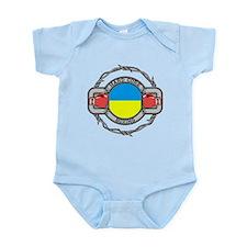 Hard Core Ukraine Boxing Infant Bodysuit