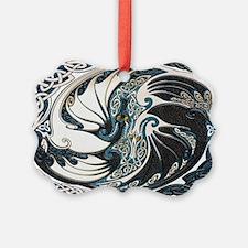 Harvest Moons Yin Yang Dragons Ornament