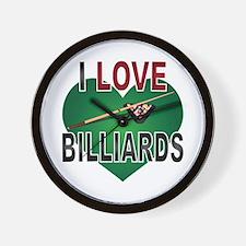 Love Billiards Wall Clock
